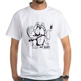 Raging beaver canada maple leaf angry jeff pain Mens Classic White T-Shirts
