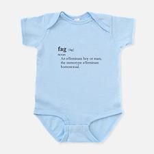 FAG / Gay Slang Infant Bodysuit