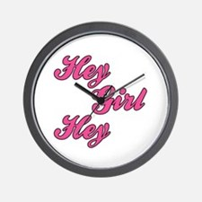 Sporty Font Hey Girl Hey Wall Clock