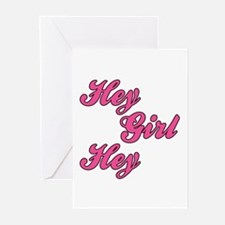 Sporty Font Hey Girl Hey Greeting Cards (Pk of 10)