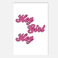 Sporty Font Hey Girl Hey Postcards (Package of 8)