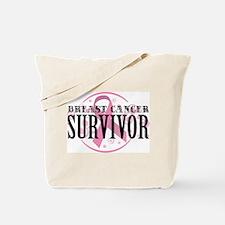 Breast Cancer Survivor Swirls Tote Bag