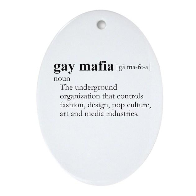 GAY MAFIA / Gay Slang Oval Ornament By Glbtshirts