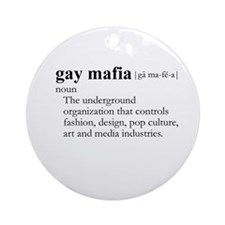 GAY MAFIA / Gay Slang Ornament (Round)