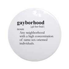GAYBORHOOD / Gay Slang Ornament (Round)