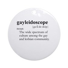 GAYLEIDOSCOPE / Gay Slang Ornament (Round)