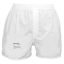 HOMOEROTIC / Gay Slang Boxer Shorts