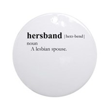 HERSBAND / Gay Slang Ornament (Round)