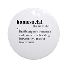 HOMOSOCIAL / Gay Slang Ornament (Round)