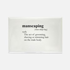 MANSCAPING / Gay Slang Rectangle Magnet