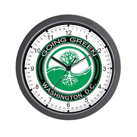 Going Green Tree Washington, D.C. Wall Clock