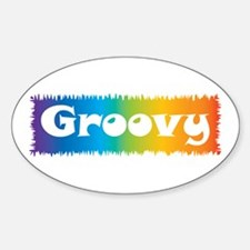 Groovy cl block Oval Decal