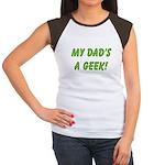 Dad's a Geek Women's Cap Sleeve T-Shirt