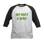 Dad's a Geek Kids Baseball Jersey