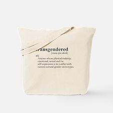 TRANSGENDERED definition Tote Bag