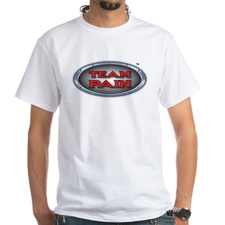 Team Pain Red Logo White T-Shirt