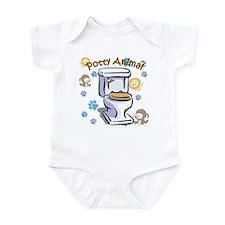 Potty Animal Infant Bodysuit