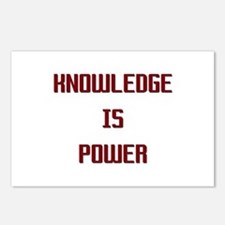 Knowledge is Power Postcards (Package of 8)