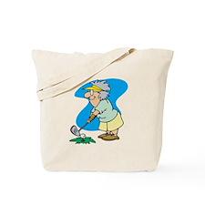 Golfing Granny Tote Bag