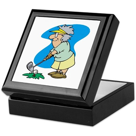 Golfing Granny Keepsake Box