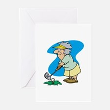 Golfing Granny Greeting Cards (Pk of 10)