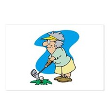 Golfing Granny Postcards (Package of 8)