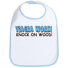 """""""Viagra Works: Knock On Wood"""" Bib"""