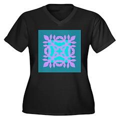 Papercut Women's Plus Size V-Neck Dark T-Shirt
