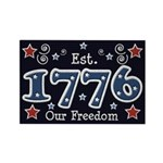 1776 Freedom Americana Rectangle Magnet (100 pack)