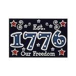1776 Freedom Americana Rectangle Magnet