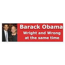 Wright & Wrong Bumper Bumper Sticker