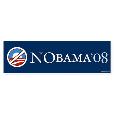 2 NoBama 08 Bumper Sticker (10 pk)