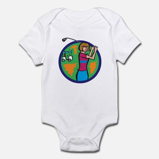 Woman Golfer Infant Bodysuit