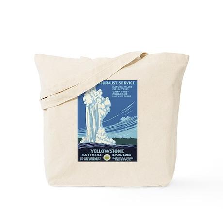 Yellowstone National Park WPA Poster Tote Bag