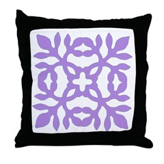 Lilac Papercut Throw Pillow