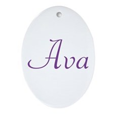 Ava Ornament (Oval)
