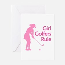 Girl Golfers Rule Greeting Cards (Pk of 10)
