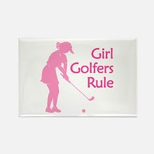 Girl Golfers Rule Rectangle Magnet