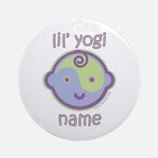 Lil' Yogi (Green/Purple) Ornament (Round)