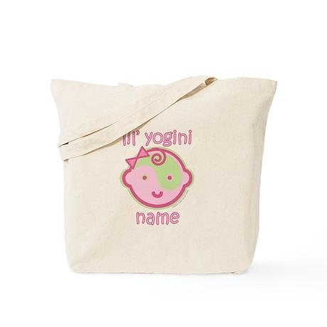Lil' Yogini (Pink/Green)) Tote Bag