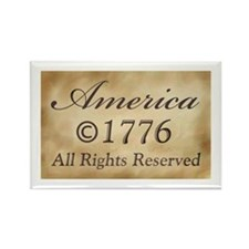 Copyright 1776 Rectangle Magnet (100 pack)