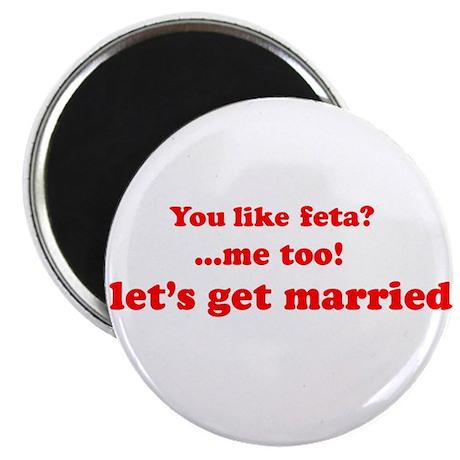 "Feta Cheese 2.25"" Magnet (10 pack)"