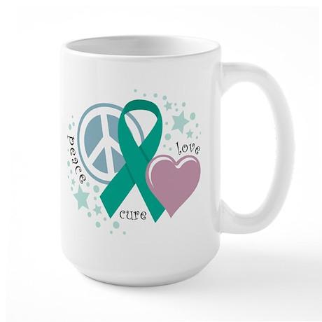 Ovarian Cancer PLC Large Mug