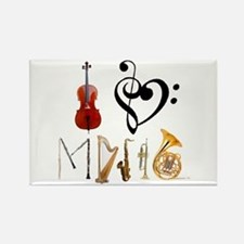 I Love Music Rectangle Magnet