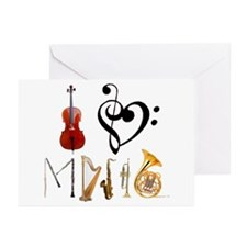 I Love Music Greeting Cards (Pk of 10)