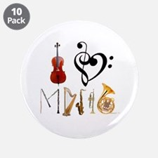 """I Love Music 3.5"""" Button (10 pack)"""