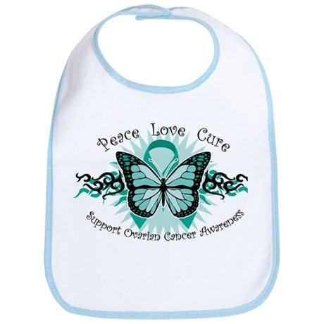 Ovarian Cancer Butterfly Bib