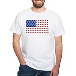 Snow Cross Snowmobile Flag of Sleds White T-Shirt
