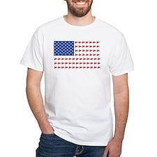 Snow Cross Snowmobile Flag of Sleds Shirt