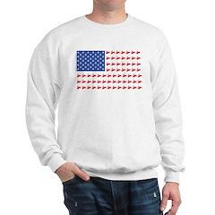 Snow Cross Snowmobile Flag of Sleds Sweatshirt